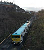 SB Rail ballast tamping machine inches up the down line and 'commits a SPAD' in the line of duty.<br><br>[Martin MacGuire&nbsp;06/04/2016]