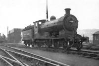 Reid ex-NB class D33 4-4-0 no 62466 in black with new lining at Eastfield in April 1949. Twelve of the class were built at Cowlairs in 1909-10 but were quickly superseded by the D34 'Glen' 4-4-0s. This particular D33 ended its career at Dunfermline in late 1951, with the last example of the class withdrawn by the end of 1953.<br><br>[G H Robin collection by courtesy of the Mitchell Library, Glasgow&nbsp;09/04/1949]