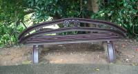 A seat made from rails at Kuranda at the end of the Kuranda (very) Scenic Railway from Cairns in Queensland to Kuranda, Australia. The journey is breathtaking!<br><br>[Brian Smith&nbsp;/05/2005]