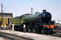 At Steamtown Carnforth Summer 1976. Given the name 'Mayflower' which actually belonged to the scrapped (6)1379.<br> <br><br>[Colin Miller&nbsp;//1976]
