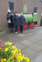 Thornton Community Council commissioned this locomotive sculpture to recall the time when Station Road led to the village's station. The real Marquess is no stranger to the local tracks.<br><br>[John Yellowlees&nbsp;01/04/2016]