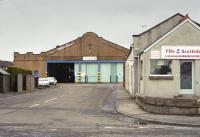 Cowdenbeath Broad Street tram depot in 2004.  Trams ceased running on 4 July 1937 but the depot serviced buses until 2015.  The facade was later rebuilt but in 2016 the building was for sale or rent.<br><br>[Bill Roberton&nbsp;//2004]