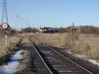 The derelict yard signal box which was demolished not long after this picture was taken in January 2010. This was Margam Sorting Sidings South box.<br><br>[Alastair McLellan&nbsp;07/01/2010]