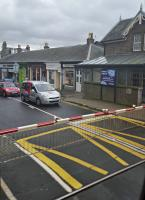Business start-up space to let at Broughty Ferry, unique location, (extremely) good access to public transport. View from a northbound train on the level crossing.<br><br>[John Yellowlees&nbsp;13/04/2016]