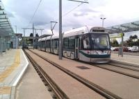 Another example of the changing scene in the Toton area as an afternoon tram prepares to head for Nottingham Midland at the recently opened terminus, which may in turn become a stopping point on a route to East Midlands Airport and Derby.<br><br>[Ken Strachan&nbsp;23/04/2016]