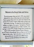 On-train notice telling all about the 2'6'-gauge Railway.<br><br>[John Yellowlees&nbsp;26/04/2016]
