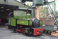 ALFA an 0-6-0T from the Ryam Sugar Mills and newly restored, built by Hudswell-Clarke 1922.<br><br>[Peter Todd&nbsp;09/04/2016]