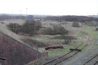 View towards the closed Margam Running Shed in 2012.<br><br>[Alastair McLellan&nbsp;04/01/2012]