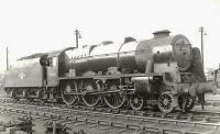 Royal Scot 46102 <I>Black Watch</I> photographed in the shed yard at Polmadie on 14 May 1960. <br><br>[G H Robin collection by courtesy of the Mitchell Library, Glasgow&nbsp;14/05/1960]
