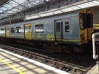 Gray Merseyrail liveried train at Southport.<br><br>[Veronica Clibbery&nbsp;/04/2016]