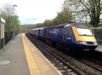A Great Western HST northbound through Freshford on 30 April 2016, thought to have been diverted from the main Bath - Chippenham line due to electrification/engineering work. [Ref query 9285]<br><br>[Ken Strachan&nbsp;30/04/2016]