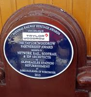 Plaque unveiled today at Gleneagles by Andy Savage RHT and Fred Garner of Taylor Woodrow.<br><br>[John Yellowlees&nbsp;05/05/2016]