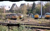 Taken from the station car park at Leicester looking north. Unsure why these are all stored here. Any ideas?<br><br>[Alastair McLellan&nbsp;24/04/2016]