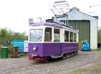 Former Graz Tramways car 225 of 1949 in use on the internal passenger service at Summerlee Museum in May 2005. The vehicle was sold to the Brighton Tram 53 Society in 2010.<br><br>[John Furnevel&nbsp;09/05/2005]