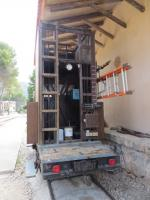 Maintenance vehicle at Bunyola - even the RRVs are antiques on the Soller railway!<br><br>[Mark Wringe 27/07/2014]