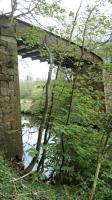 Downstream of the Eden Viaduct looking up to the girder.<br><br>[William Neill&nbsp;05/05/2016]