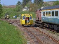 A motorised P-Way trolley gives rides with Ruston Hornsby 411319 of 1958 in the background.<br><br>[Bill Roberton&nbsp;04/06/2016]