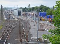 The west end of Craigentinny Depot with new construction under way - for what purpose?<br><br>[Bill Roberton&nbsp;13/06/2016]
