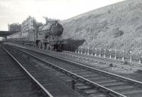 Robinson 'Director' 4-4-0 no 62671 <I>Bailie Macwheeble</I> descending Cowlairs Incline on 5 August 1952 with a train from the Fife Coast.  <br><br>[G H Robin collection by courtesy of the Mitchell Library, Glasgow&nbsp;05/08/1952]