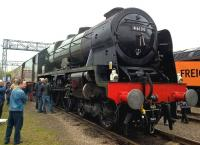 There were supposed to be several steam engines at the HST's 40th birthday party see image [[55002]], but only Royal Scot 46100 got there. It was in steam, adding some interesting smells to the show.<br><br>[Ken Strachan 02/05/2016]