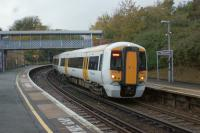 A Southeastern to Hastings service calls at West St Leonards on 27 October 2010.<br><br>[John McIntyre&nbsp;27/10/2010]