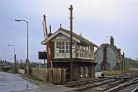 The former station at Claydon on the Great Eastern main line north of Ipswich as it appeared on 2nd January 1978. It had closed to passengers in 1963 and was notable for its ornate station building. Unfortunately, the building was demolished in 1992, the signal box having been abolished six years earlier.<br><br>[Mark Dufton&nbsp;02/01/1978]