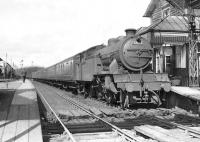A train for Bridgeton waits to leave Balloch Central on 20 April 1957 behind V1 67601. <br><br>[G H Robin collection by courtesy of the Mitchell Library, Glasgow&nbsp;20/04/1957]