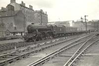 Black 5 44997 arriving at Buchanan Street on 20 June 1957 with an express from Aberdeen.  <br><br>[G H Robin collection by courtesy of the Mitchell Library, Glasgow&nbsp;20/06/1957]