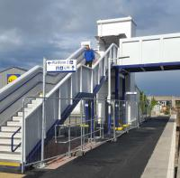 Elgin station's new footbridge.<br><br>[John Yellowlees&nbsp;04/07/2016]