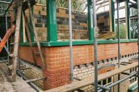 Thuxton Signal Box under construction in 2011 on the Mid-Norfolk Railway.<br><br>[John R. Willoughby&nbsp;22/10/2011]