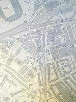 Large-scale OS map of the Gorgie Junction triangle with Haymarket shed (and turntable), the old Murrayfield Stadium and and a lot of warehouses. The 'Works' in the triangle was a brewery; why the reticence when the distillery is identified? Map from contributor's collection. Crown copyright.<br><br>[David Panton&nbsp;27/06/2016]