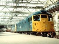 BRCW Type 2s 5338+5340 at Waverley in September 1971 with a train from Inverness.<br><br>[John Furnevel&nbsp;21/09/1971]