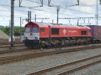 Crossrail Benelux (private open access operator) class 66 PB13 passes through Bruges/Brugge with containers for Zeebrugge on 25 June.<br><br>[Bill Roberton&nbsp;25/06/2016]