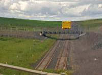 Subsea 7 pipehead vehicle on 976 mm rails at Keiss.<br><br>[John Yellowlees&nbsp;01/07/2016]