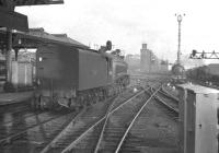 Various manoeuvres taking place at the east end of Newcastle Central. A photograph thought to have been taken in the spring of 1961.<br><br>[K A Gray&nbsp;//1961]