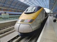 Eurostar 3231 at St Pancras with a train from Brussel Midi.<br><br>[Bill Roberton&nbsp;27/06/2016]