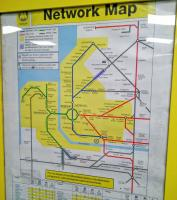 The Merseyrail network map. Whilst the green Wirral Line and the blue Northern Line unmistakably exist the red City Line doesn't seem to be much of a reality outside this diagram, having no noticeable branding and operating out of Lime Street mainline station on Northern Rail trains all bound for points beyond Merseyside. Am I missing something?<br><br>[David Panton&nbsp;30/06/2016]