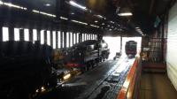 Inside the shed at Grosmont on the North Yorkshire Moors Railway.<br><br>[Rod Crawford&nbsp;01/07/2016]