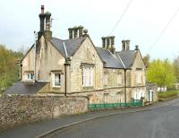 The 1852 station building at Alston, seen here in May 2006 looking north from Station Road.<br><br>[John Furnevel&nbsp;06/05/2006]