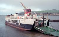 MV Loch Striven on the Largs - Great Cumbrae service in 1989 when still relatively new, having been built in 1986. This ferry can currently (2016) be found on the Oban - Lismore service.<br><br>[Ewan Crawford&nbsp;10/02/1989]