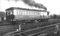 LNER Sentinel steam railcar 31873 <I>Quicksilver</I> at Balloch, thought to have been photographed in the 1930s. Built in 1929, the railcar was eventually withdrawn from service in 1947.<br><br>[Bruce McCartney Collection&nbsp;//]