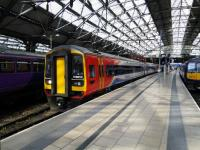 An East Midlands Trains service for Norwich stands at Liverpool Lime Street Platform 5 on 30/06/2016.<br><br>[David Panton&nbsp;30/06/2016]