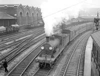 View over Southampton Terminus in the 1930s, with a Southern Railway service leaving the station. <br><br>[Bruce McCartney Collection&nbsp;//]