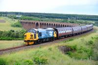 37025 Inverness TMD on the return journey to Linlithgow from<br> Inverness.The locomotive was last in Inverness over twenty years<br> ago.<br><br>[John Gray&nbsp;16/07/2016]