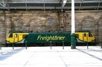 <I>Up against the wall</I>. Freightliner 90042 stabled alongside the south wall at Waverley on 19 July 2016 between sleeper duties.   <br><br>[John Furnevel&nbsp;19/07/2016]