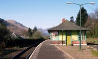 View towards Glasgow at Arrochar and Tarbet station in 1991. To the left are the former railway cottages. The station building, very disappointingly, has not survived.<br><br>[Ewan Crawford&nbsp;//1991]