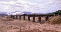 37404 Ben Cruachan takes 44871 north over Rannoch Viaduct in early 1991.<br><br>[Ewan Crawford&nbsp;//1991]