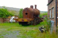 Outside the ARPG's shed at Dunaskin: No. 8, Barclay 0-6-0T in need of a little finishing.<br><br>[Colin Miller&nbsp;17/07/2016]