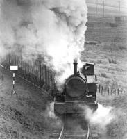 NCB West Ayr Area no 24 (AB 2335/1953) approaching Dunaskin in March 1972 with coal from Pennyvenie destined for the washery.<br><br>[John Furnevel&nbsp;04/03/1972]