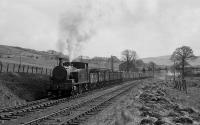 NCB No 24 climbs through Burnton loop with coal from Pennyvenie. Minnivey mine in the background. May 1974.<br><br>[Bill Roberton&nbsp;01/08/2016]